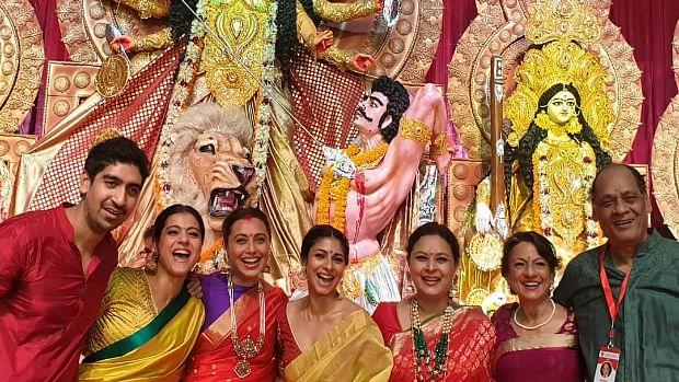 Rani Mukerji, Ayan Mukerji reunite with family for Durga Puja