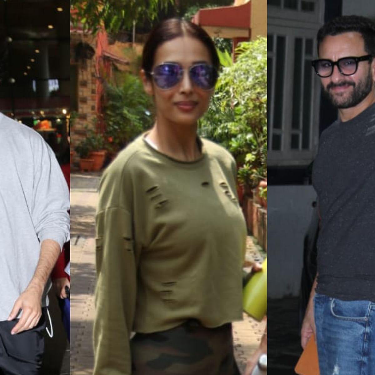 Shahid Kapoor, Malaika Arora, Saif Ali Khan clicked by Paparazzi in the city