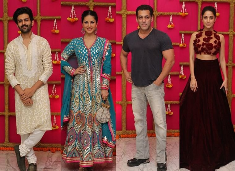 Salman Khan, Sunny Leone and other Bollywood celebs attend T-Series Diwali Party