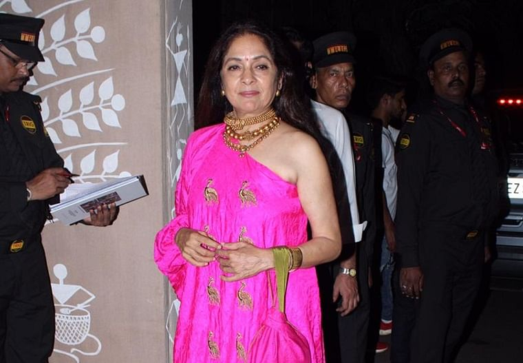 Slaying at 60: Neena Gupta turns heads in a one-shoulder ensemble at Bachchans' Diwali bash