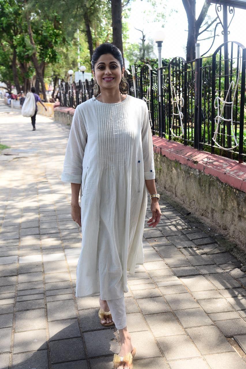 Shamita Shetty at a special walkathon