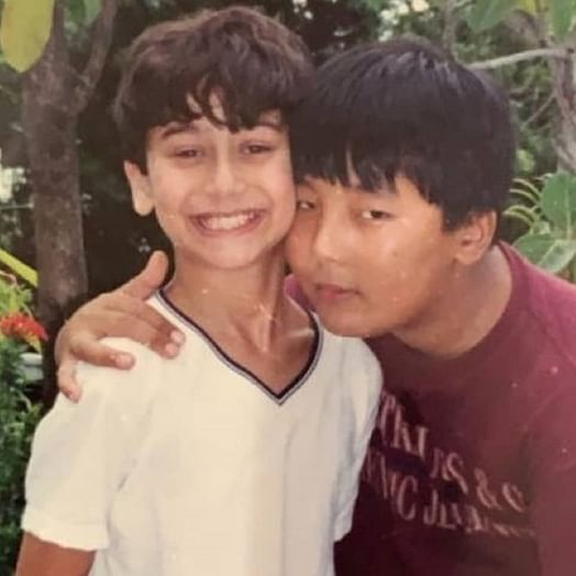 Tiger Shroff looks adorable in this throwback photo with childhood friend Rinzing Denzongpa