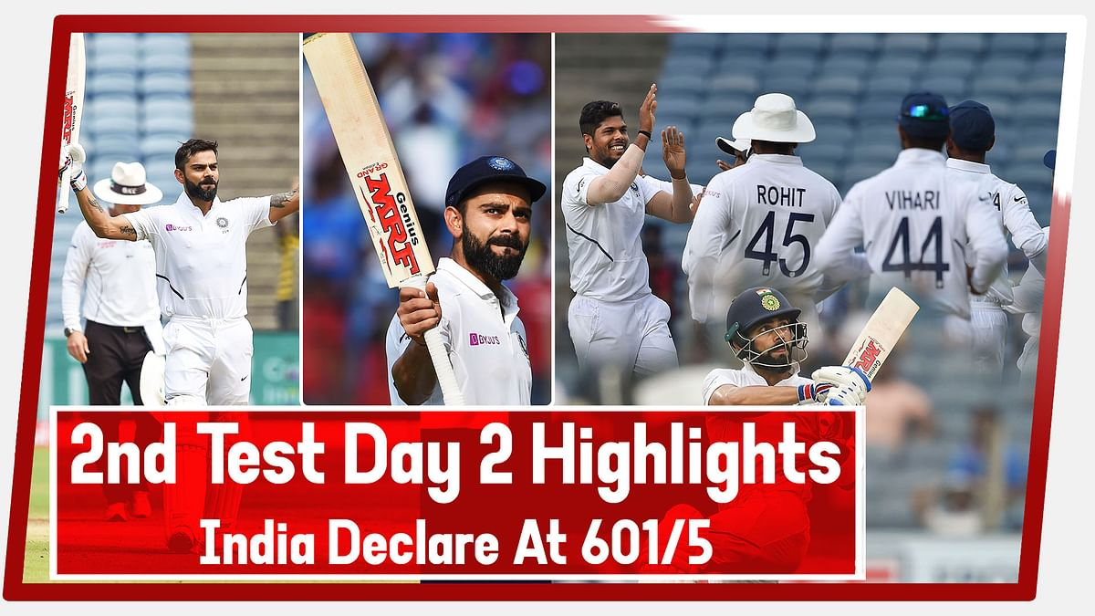 LIVE-2nd Test Day 2 Highlights | India vs South Africa, India Declare At 601/5 Against SA | #INDvsSA