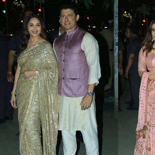 Love is in the air: Madhuri, Raveena and their plus ones steal the show at Bachchans' Diwali bash