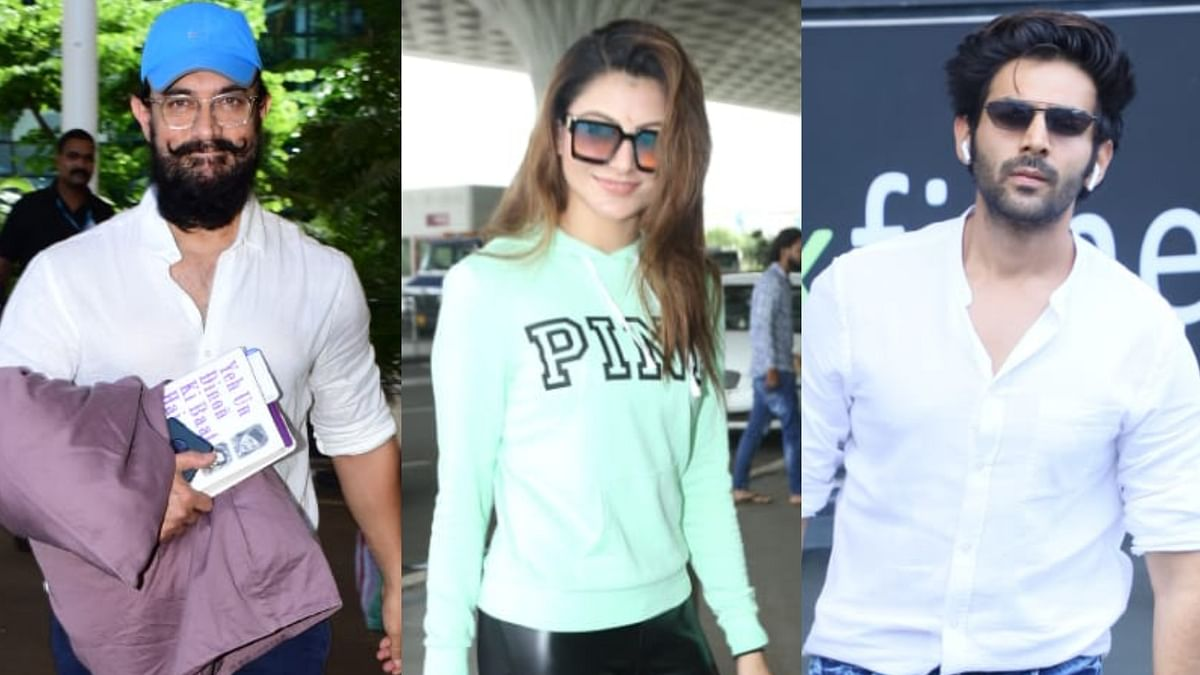 Paparazzi Files: Aamir Khan, Urvashi Rautela, Kartik Aaryan and other B-town celebs clicked