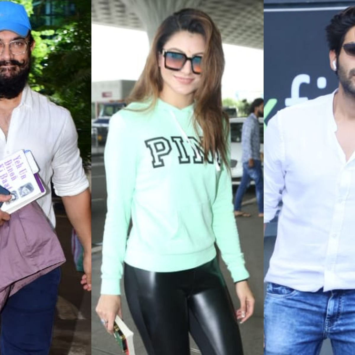 Paparazzi Files: Aamir Khan, Urvashi Rautela, Kartik Aaryan and other B-town celebs clicked