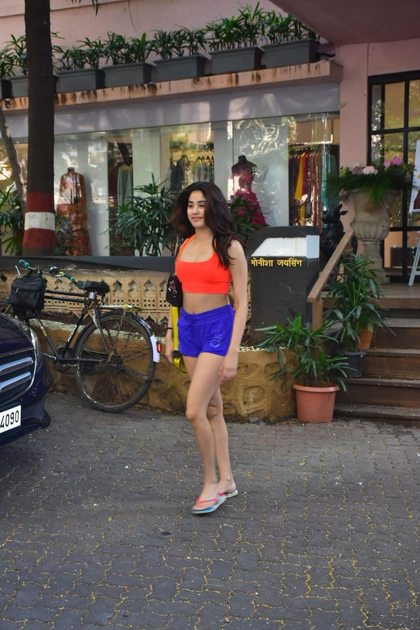 Janhvi Kapoor spotted at gym in Pali