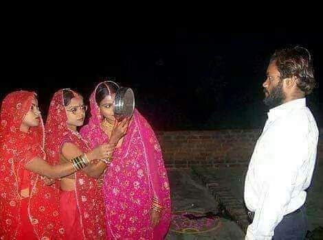 Satna: 3 sisters in MP observe Karwa Chauth for their single husband