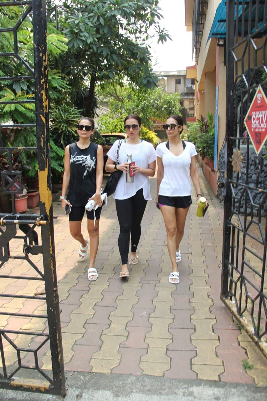 Maialka Arora, Amrita Arora spotted at Diva Yoga in Bandra
