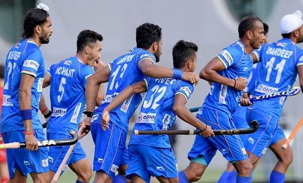 Indian hockey team returns after successful tour of Belgium