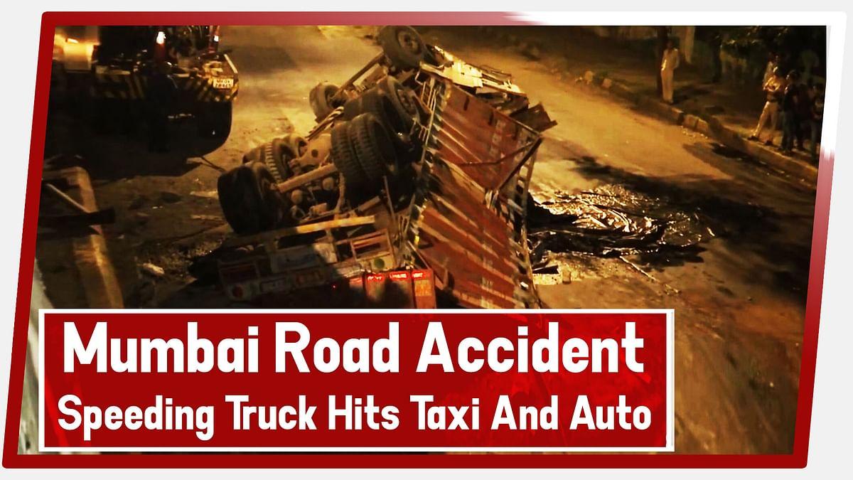 Mumbai Road Accident: 4 Injured As Speeding Truck Hits Taxi, Western Expressway Highway In Mumbai