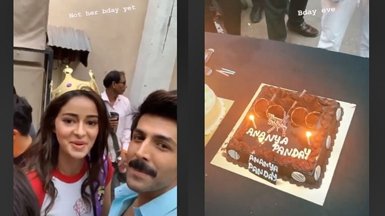 Ananya Panday celebrates 21st birthday on 'Pati, Patni Aur Woh' sets