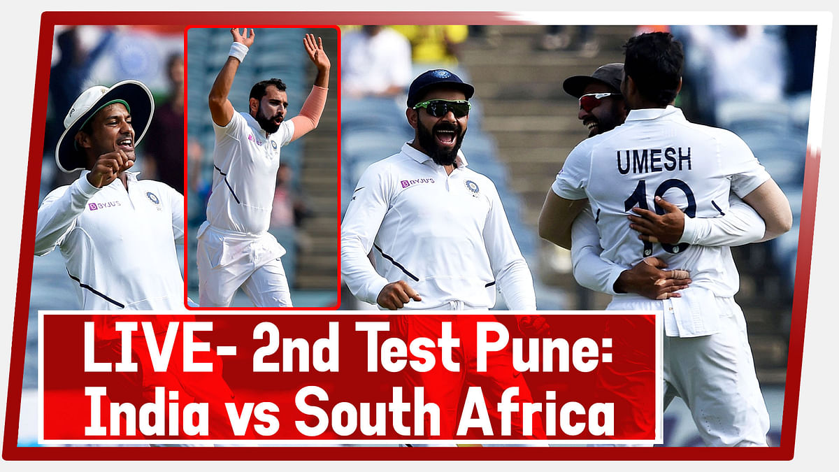 LIVE- 2nd Test Pune: India vs South Africa | Bowlers Tighten India's Grip Over SA in Pune Test
