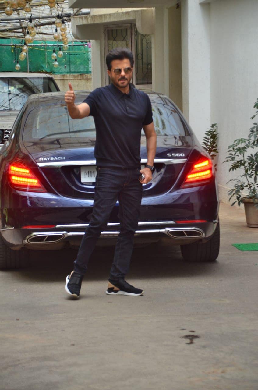 Anil Kapoor snap at dubbing studio in Juhu