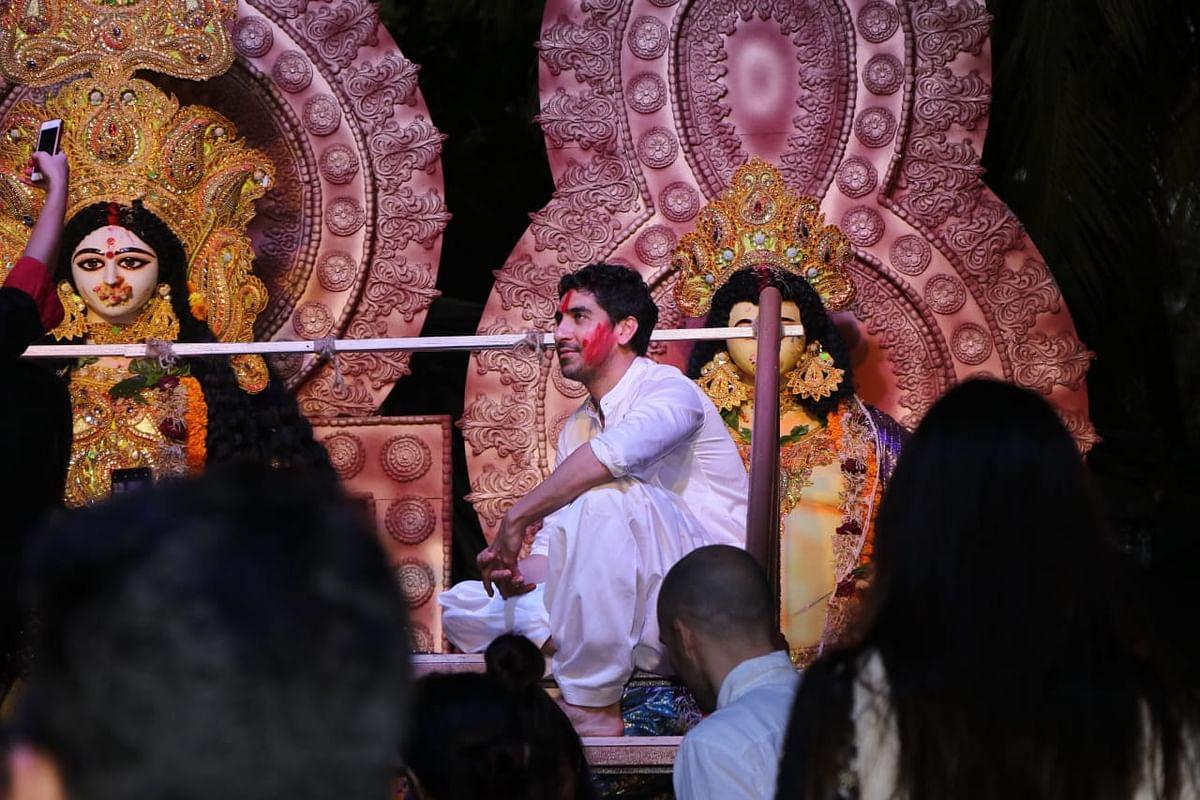 Karan Johar, Rani, Kajol come together for 'Sindur Khela' on last day of Durga Puja