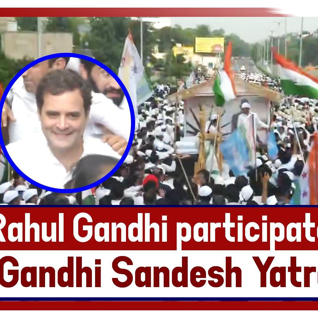 Rahul Gandhi participates in 'Gandhi Sandesh Yatra' in Delhi