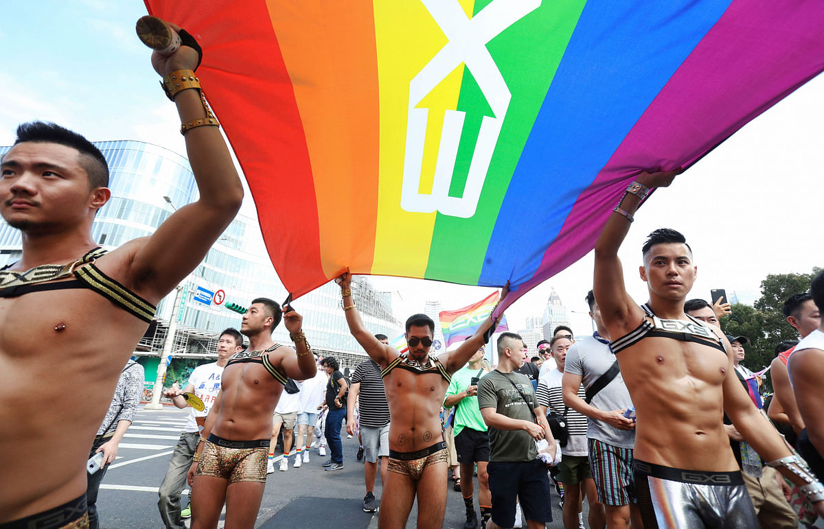 Taiwan revels in first pride since legalising gay marriage