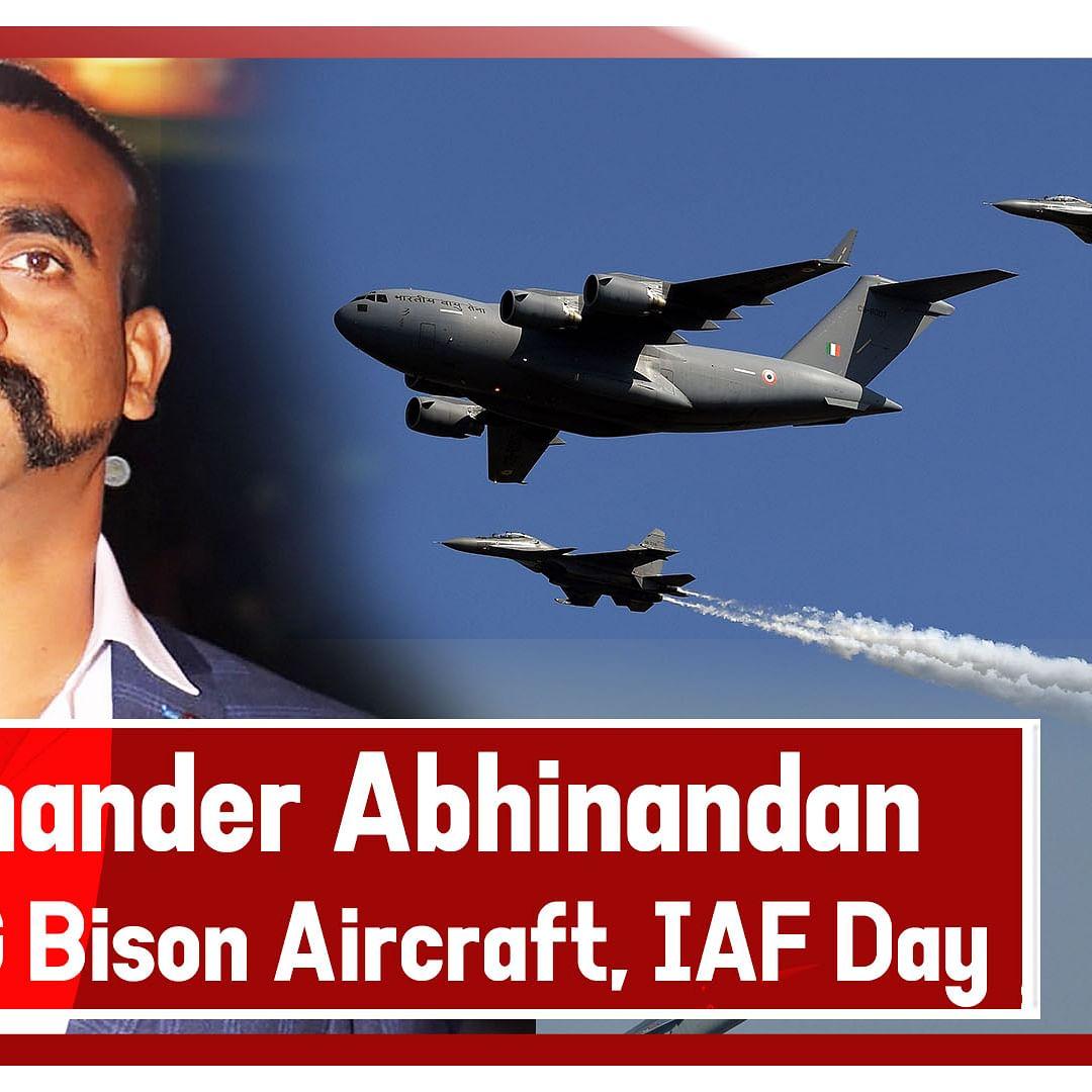 Wing Commander Abhinandan Varthaman Flies MiG Bison Aircraft During Air Force Day Parade