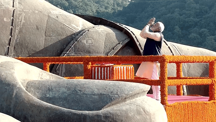 PM Narendra Modi paid floral tribute to India's first Home Minister Sardar Vallabhbhai Patel at Statue of Unity.