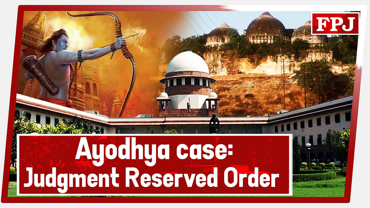 Ayodhya Case: SC Concludes Hearing In Ram Janmbhoomi-Babri Masjid Land Dispute; Reserves Order