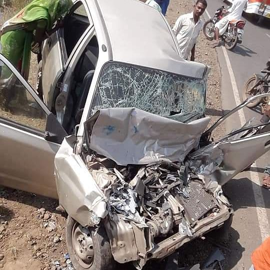 Indore man killed, son injured in car-bus collision in Agar