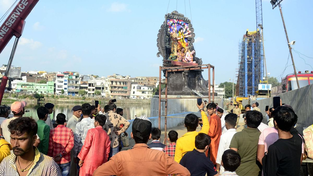 Bhopal: Immersion of Durga idols passes off smoothly