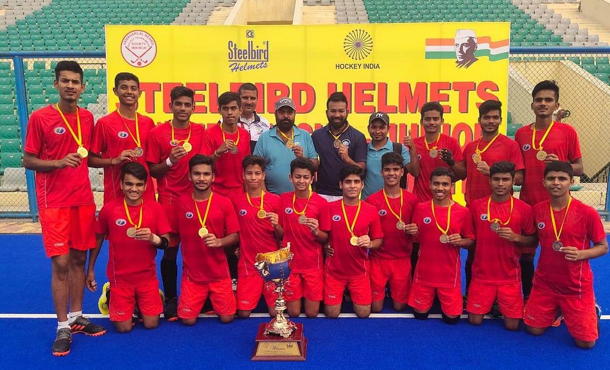 Bhopal: MP Hockey Academy lifts Hockey Tourney trophy