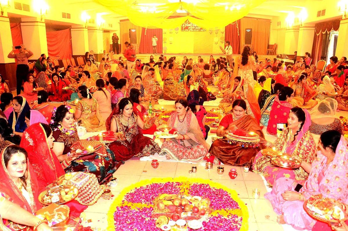 Karwa Chauth: Married women wish for husband's long life