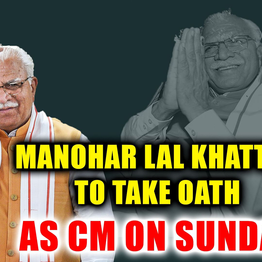 Manohar Lal Khattar to take oath as Chief Minister on Sunday afternoon