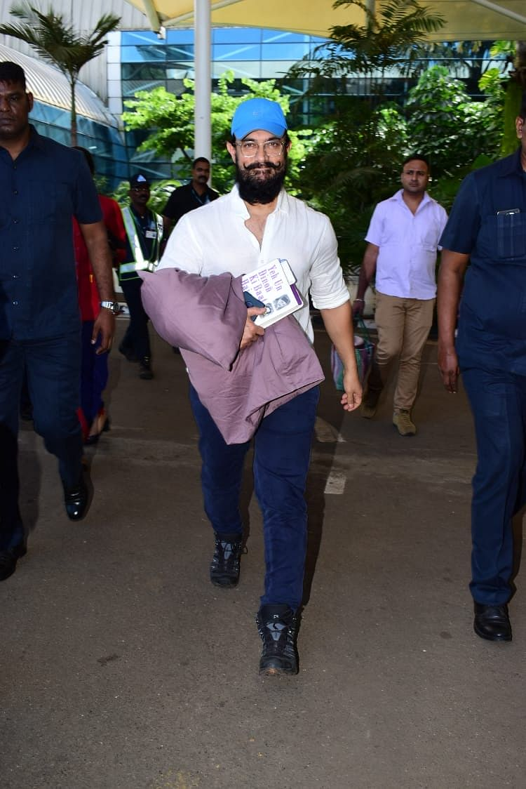 Aamir Khan at Mumbai airport