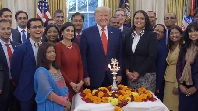 US President Donald Trump greets Indians on Diwali