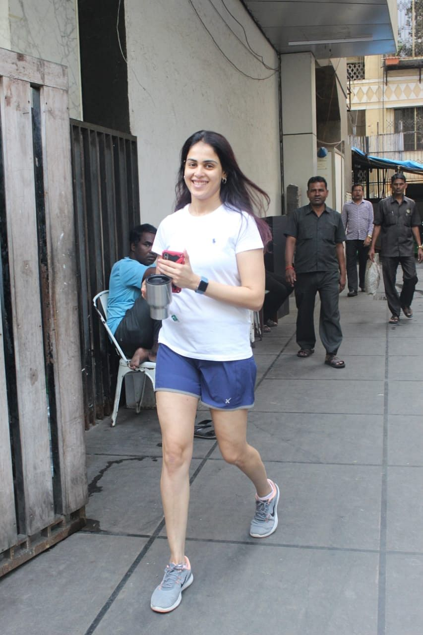 Genelia Dsouza after her gym routine