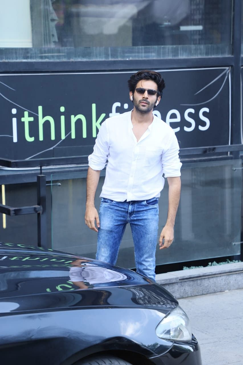 Kartik Aaryan at gym