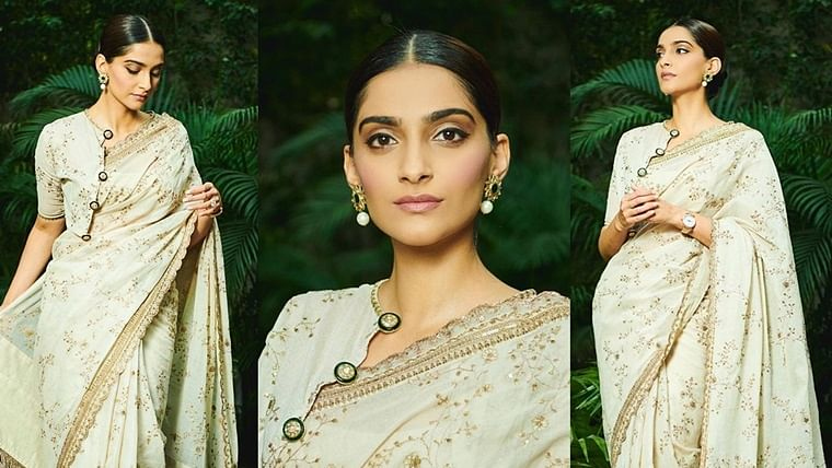 Sonam Kapoor shows off 'Mahatma Gandhi saree', leaves commentators confused