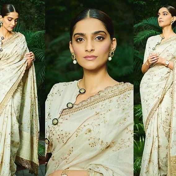 Sonam Kapoor shows off 'Mahatma Gandhi saree', leaves commentators confused