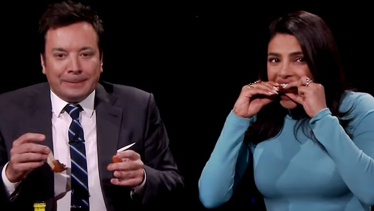 Priyanka Chopra's hot wings challenge 2.0 leaves her in tears, watch video