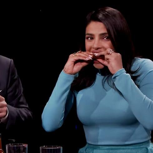 Priyanka Chopra's hot wings challenge 2.0 leaves her in tears, watch video