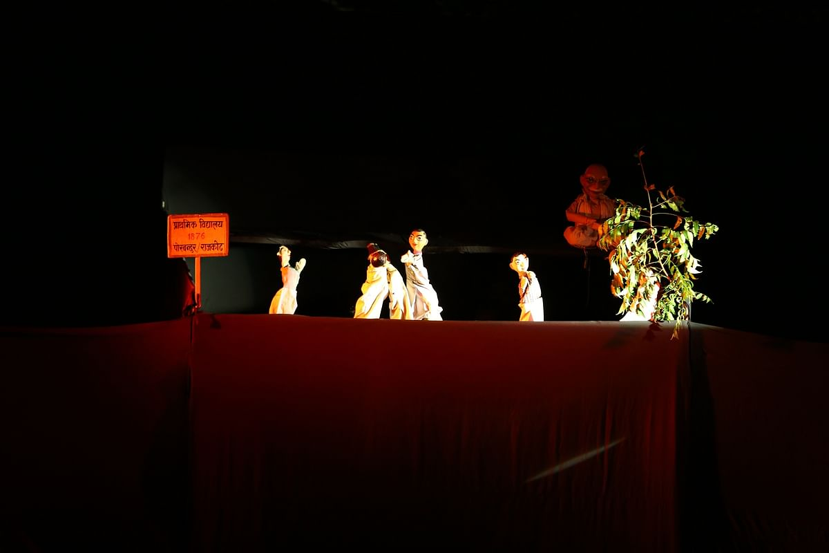 Bhopal: Puppet show 'Mohan Se Mahatma Tak' shown