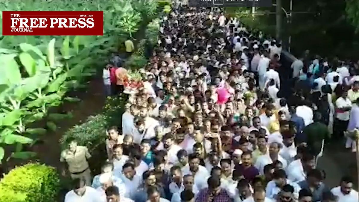 Watch: Thousands queue up to greet Sharad Pawar in Baramati on Diwali