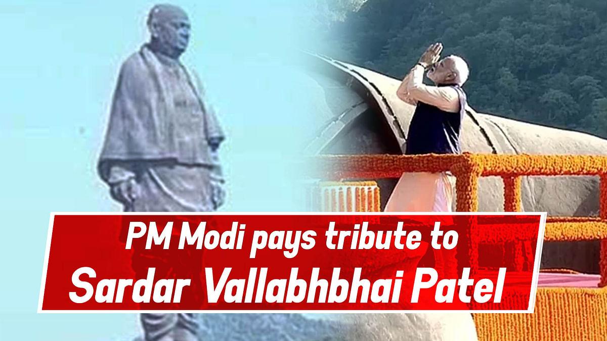PM Modi Pays Tribute To Sardar Vallabhbhai Patel On His 144th Birth Anniversary