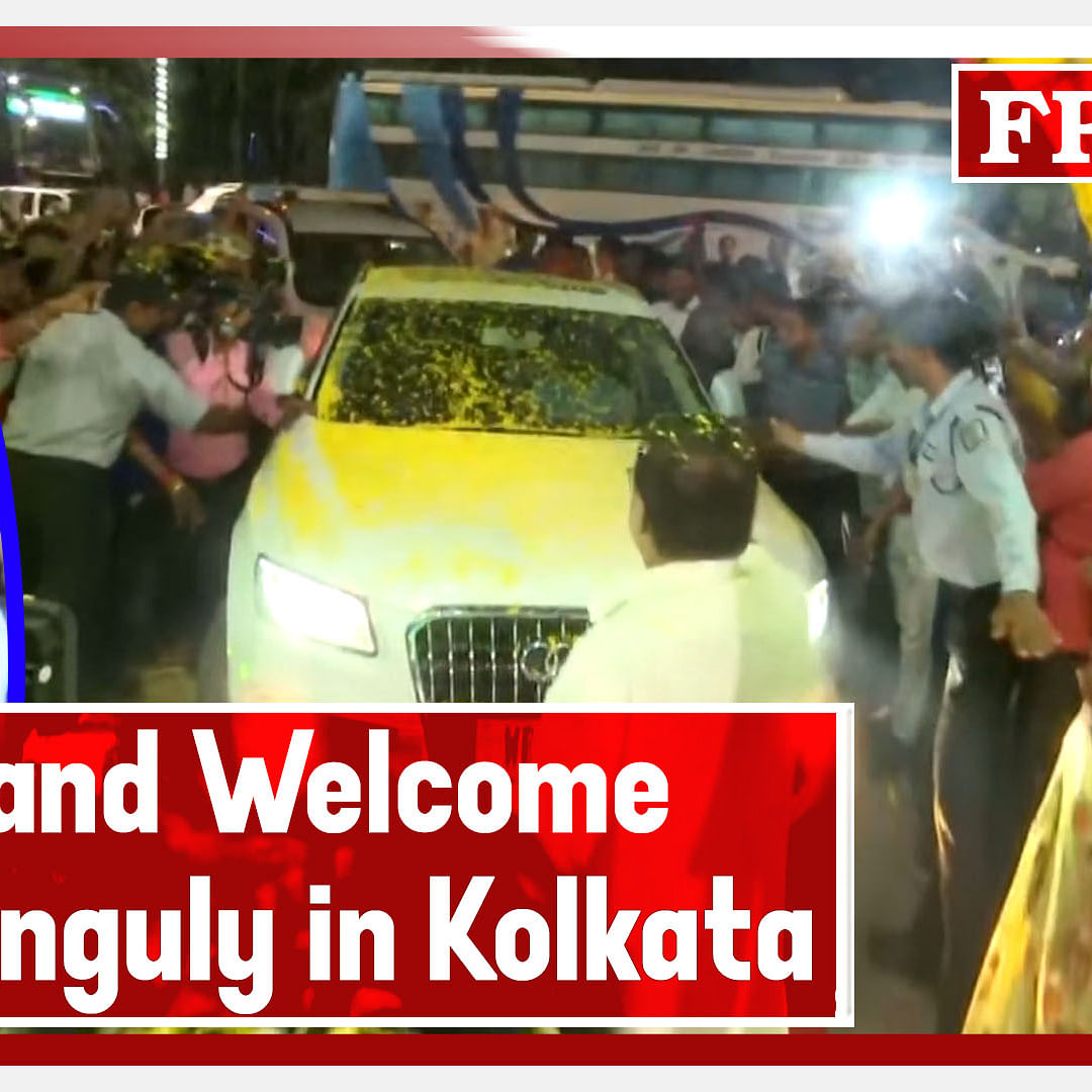Fans Grand Welcome Sourav Ganguly In Kolkata After His Selection As BCCI President