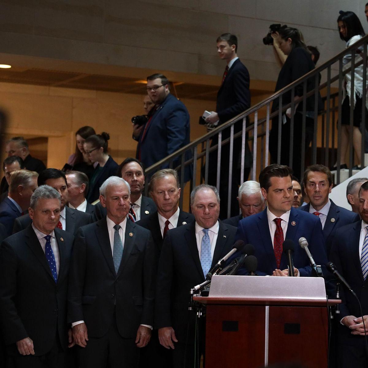 Republicans disrupt Donald Trump impeachment probe