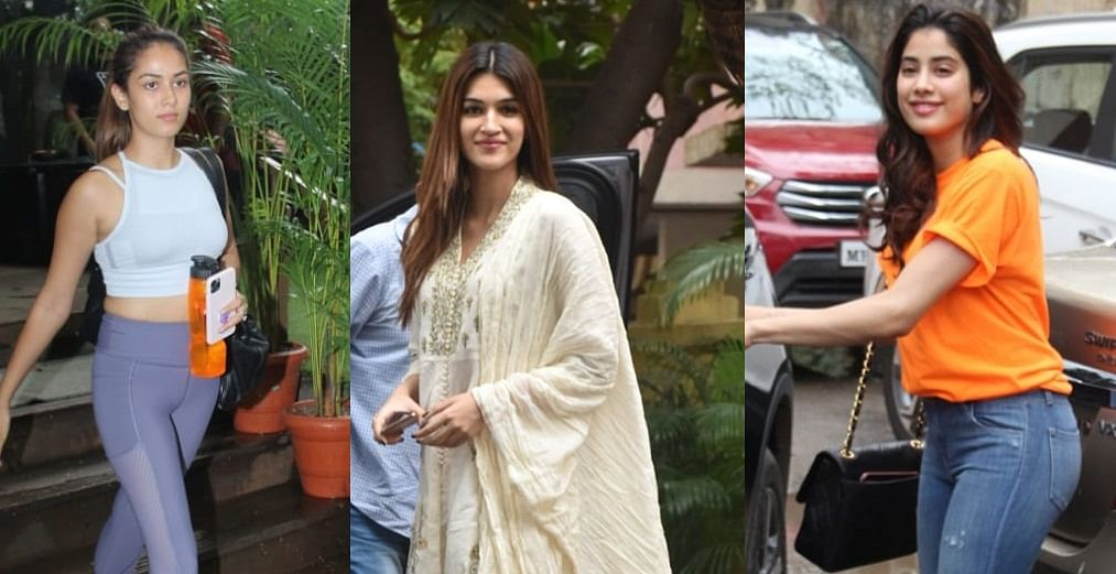 Celebrity spotting: From Mira Kapoor's gym look to Jhanvi Kapoor's casuals and Kriti Sanon's Desi avatar