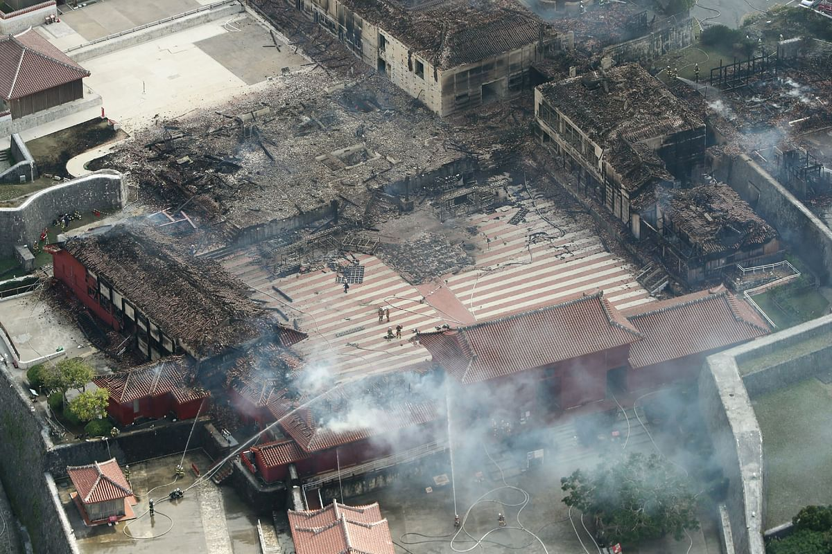 Japan's Shuri Castle, a UNESCO world heritage site, gets destroyed by blaze