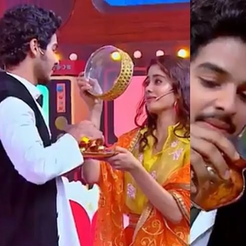 Watch Janhvi Kapoor, Ishaan Khatter recreate 'Karwa Chauth' scene from 'DDLJ'