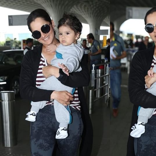 Sania Mirza's son Izhaan steals the Tennis star's thunder at the airport