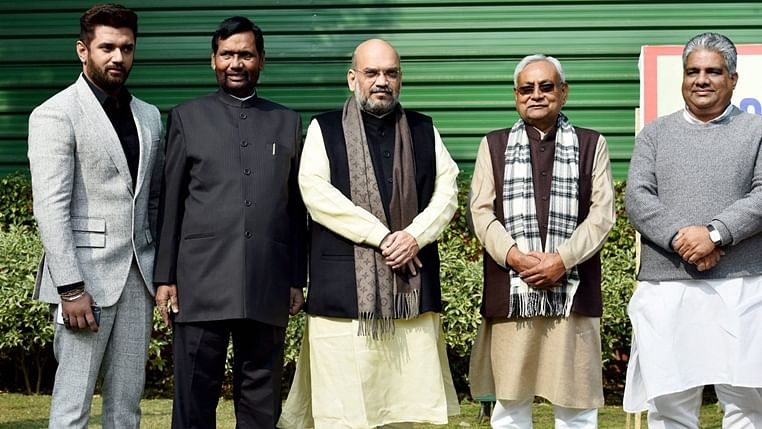 'In a coalition there are tiffs': Amit Shah lays speculation to rest, says NDA will fight Bihar polls under Nitish's leadership