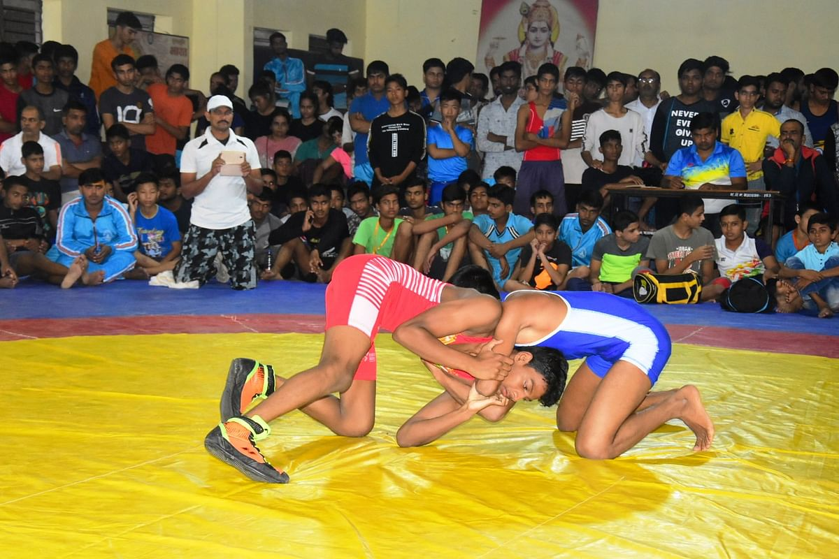 Ujjain: League matches held in wrestling tournaments