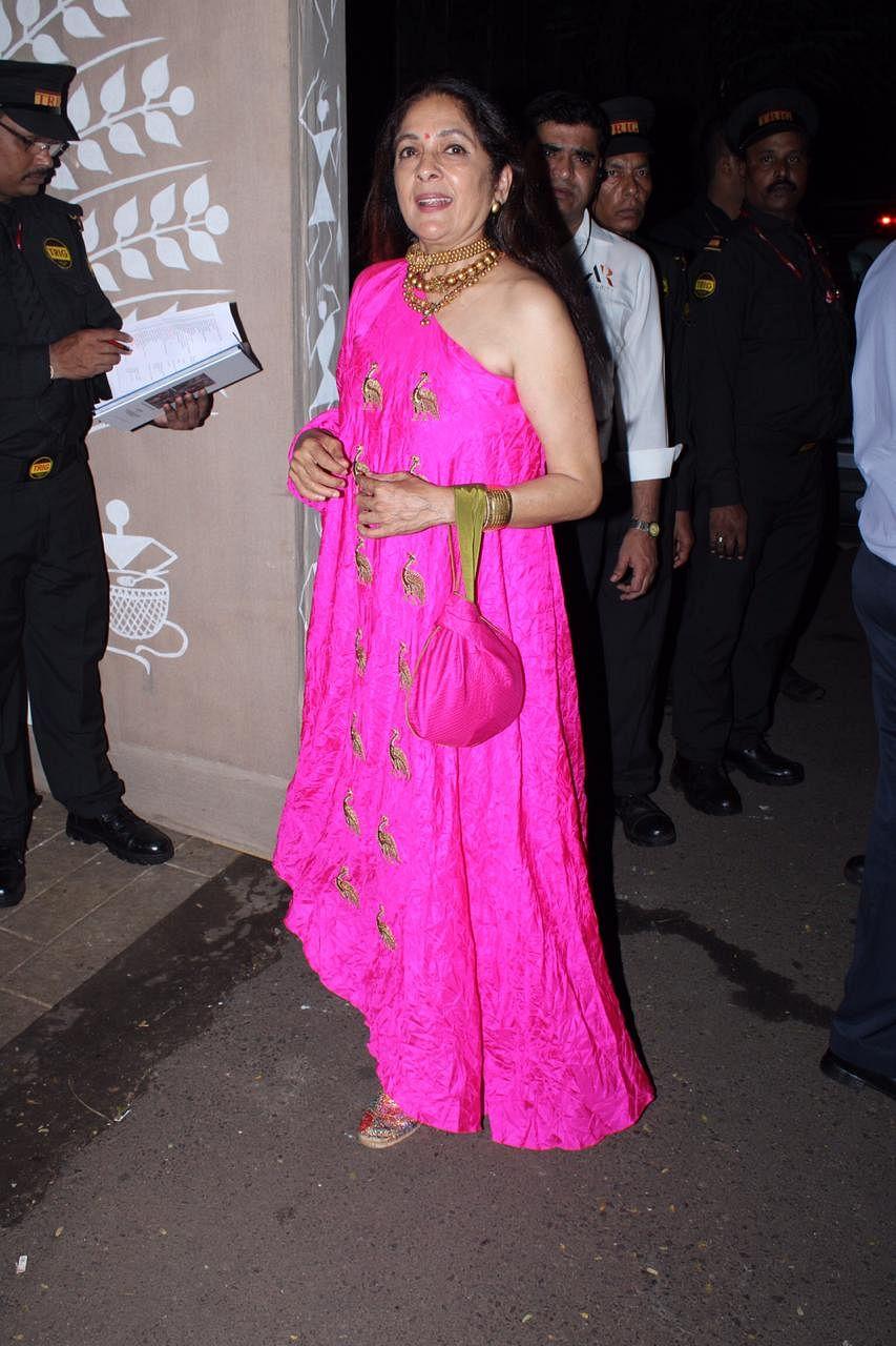 Slaying at 60: Neena Gupta turns heads in a one-shoulder ensemble at Bachchans' Diwali bash