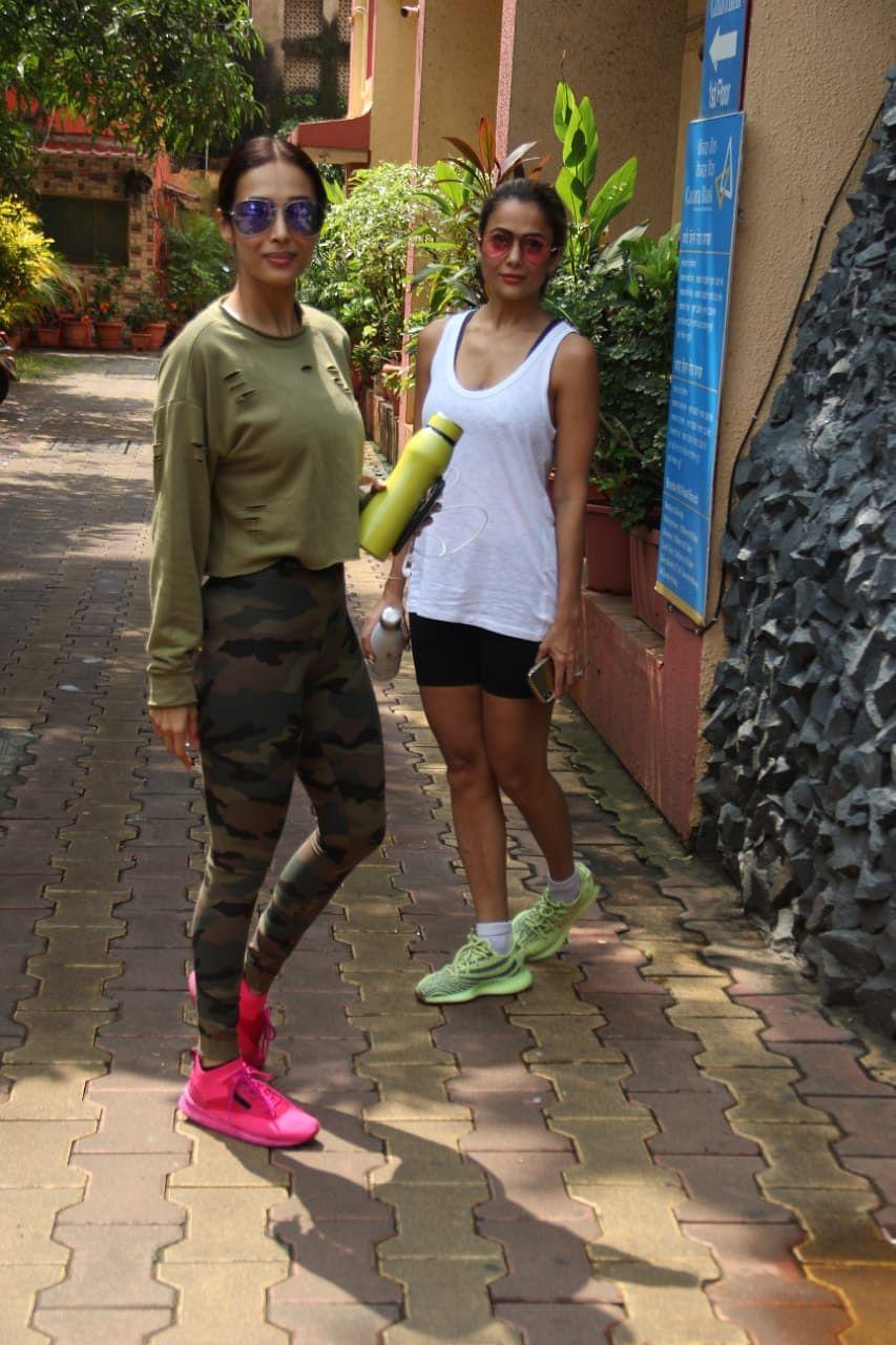 Arora sisters Malaika and Amrita at gym